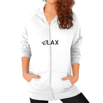 LAX Zip Hoodie (on woman)