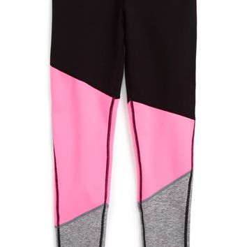 Zella Girl Colorblock Leggings (Little Girls & Big Girls) | Nordstrom