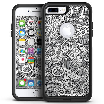 Hippie Dippie Doodles - iPhone 7 or 7 Plus Commuter Case Skin Kit