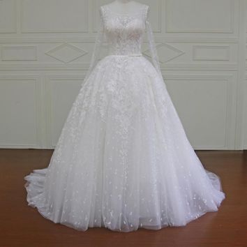 Long Sleeves Appliques Wedding dress Dress Ball Gown Wedding dresses