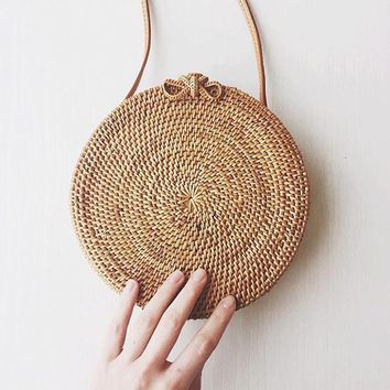 Small Straw Weave Handmade Beach Handbag