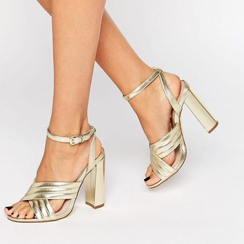 River Island | River Island Two Part Block Heeled Sandal at ASOS