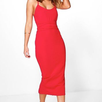 Becky Tie Waist Detail Midi Dress
