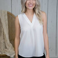 Shady Side Top, Off White
