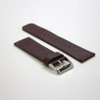 Dark Brown Sport Leather Watch Band