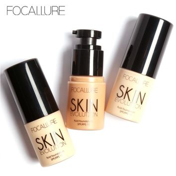 YOST-FOCALLURE oil control Make Up Foundation Concealer Whitening Moisturizer Waterproof Liquid Foundation 8 colors