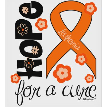 "Hope for a Cure - Orange Ribbon Leukemia - Flowers 9 x 10.5"" Rectangular Static Wall Cling"