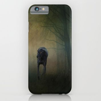The Hound In The Woods iPhone & iPod Case by Theresa Campbell D'August Art