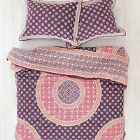 Magical Thinking Goa Medallion Duvet Cover- Maroon