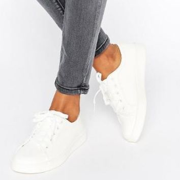 New Look | New Look Lace Up Sneaker at ASOS