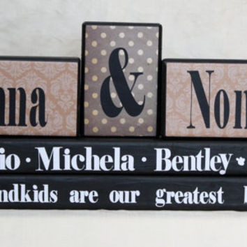 Grandparents: Nonna & Nonno Wood Blocks