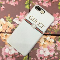 GUCCI Fashion Luxury Supreme Sliver Mirror Case For iPhone 7 7Plus 6 6s 6Plus 6s Plus