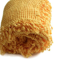 Yellow Baby Blanket - Super Soft Baby Blanket - Knitted Baby Blanket