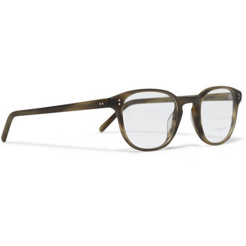 Oliver Peoples Fairmont Round-Frame Acetate Optical Glasses | MR PORTER