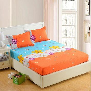 DCCKFS2 1pc 100%Polyester Fitted Sheet Mattress Cover Four Corners With Elastic Band Bed Sheets 90cm*200cm 160cm*200cm