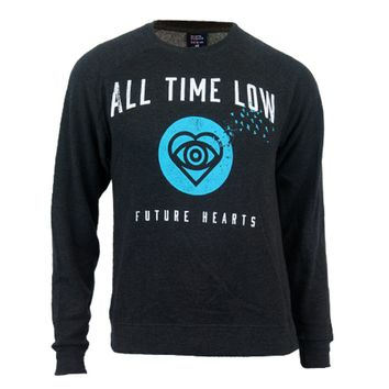Future Hearts Charcoal Heather Crewneck : HLR0 : All Time Low