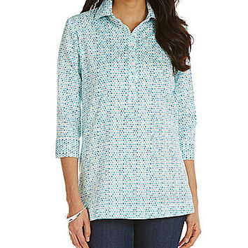 Westbound 3/4-Sleeve Popover Tunic - Layered Dots