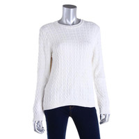 Karen Scott Womens Cotton Crew Neck Pullover Sweater