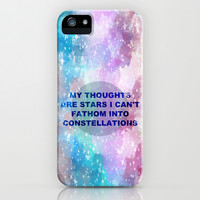 The Fault in Our Stars-My Thoughts Are Stars iPhone & iPod Case
