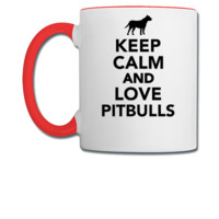 Keep calm and love Pitbulls - Coffee/Tea Mug