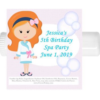 15 Birthday Spa Party Lip Balm Favors Red Hair