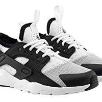 Nike Huarache Run Ultra White/Black (Little Kid)