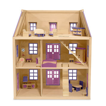 Melissa & Doug - Multi-Level Wooden Dollhouse