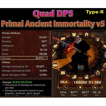 [Primal Ancient] [Quad DPS] Immortality v5 TYPE-R Earth Barbarian Trembler