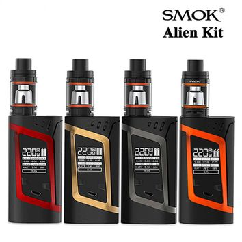 Original Smok Alien Kit with TFV8 3ML Baby Tank Atomizer Vape and Aline 220W Box Mod Electronic Cigarette Starter kit Vaporizer
