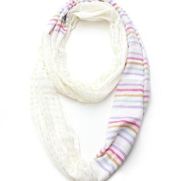LL Stripe Printed Infinity Color-White