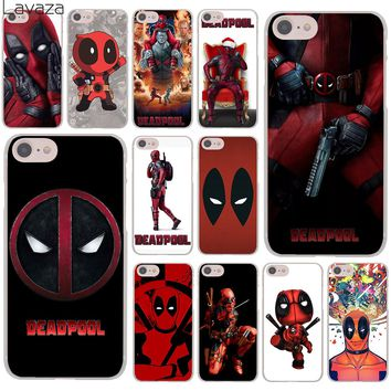Lavaza Deadpool Marvel Wade Winston Wilson Hard Cover Case for Apple iPhone 8 7 Plus 6 6S Plus 5 5S SE 5C 4 4S X/10 Coque Shell