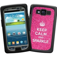 "Keep Calm and Sparkle ""Protective Decal Skin"" for Otterbox Samsung Galaxy S3 Case"
