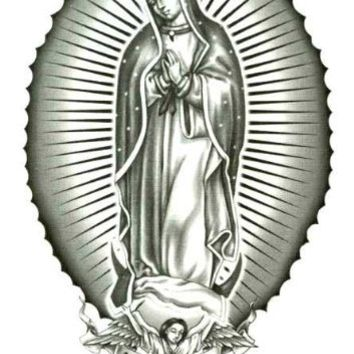 "Virgen De Guadalupe Temporary Body Art Tattoos 2.5"" x 3.5"""