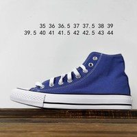 Kuyou Fa19630 Converse All Star Blue High Top Canvas Shoes