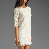 Shoshanna Lace Constance Shift Dress in Ivory from REVOLVEclothing.com
