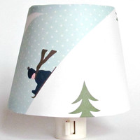 Sledding Child Night Light