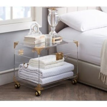 Ciao Bella Acrylic Trunk (Available with Wheels) - Rustic Brass | Overstock.com Shopping - The Best Deals on Decorative Trunks