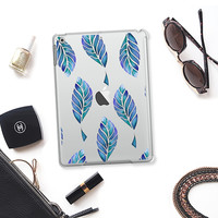 leaves in blue iPad Air 2 case by Julia Grifol Diseñadora Modas-grafica | Casetify