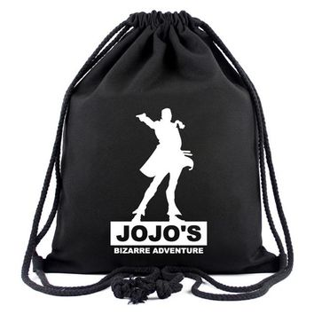Anime Backpack School Hot Style Canvas Drawstring Bags Animation JOJO Bizarre Adventure Assassin's Creed Attack on Titan Gravity Falls Backpack Bag AT_60_4