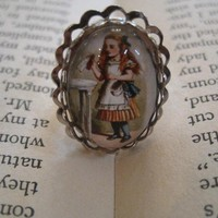 Alice in Wonderland Takes a Drink Ring by justbedesigns on Etsy