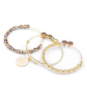 Snow And Ice Bangle Stack