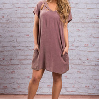 Finally Found Perfection Dress, Mauve