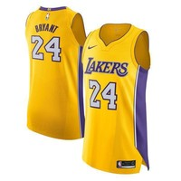 Kobe Bryant Los Angeles Lakers # 24 Nike Yellow Authentic Icon Edition Jersey