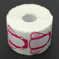 DANCINGNAIL 500Pcs Roll Gel Acryl Nail Extension Self-adhesive Guide Form Paper Stickers