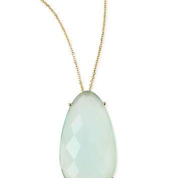 Pear Chalcedony Pendant Necklace - KALAN by Suzanne Kalan - Green (aqua)