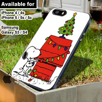 Snoopy Christmas lights tree WN for iPhone 4 / 4s / 5 / 5s / 5c case, Samsung Galaxy S3 / S4 case