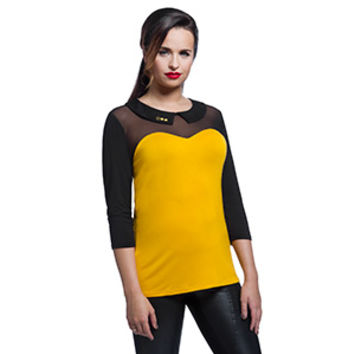 Star Trek TNG Mesh-Top Collar Tee