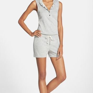 Women's Marc New York by Andrew Marc Hooded Henley Romper,