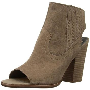 Dolce Vita Womens Pasha Suede Open Toe Ankle Boots