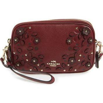 ONETOW COACH Floral Studded Leather Crossbody Bag | Nordstrom